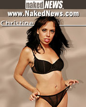 Naked News Anchor Christine Kerr Mobile Wallpaper